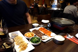 Korean BBQ set up